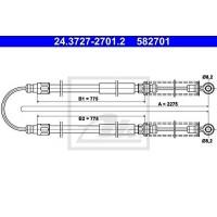 ATE 24372727012 Ръчна спирачка,въжен механизъм