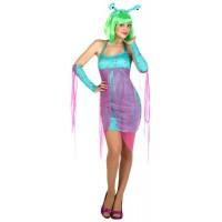 Костюм на извънземно. Карнавален костюм за Жена, Размер: XL