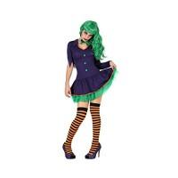 Зъл клоун костюм за хелоуин за жена. Карнавален костюм за Жена, Размер: M/L