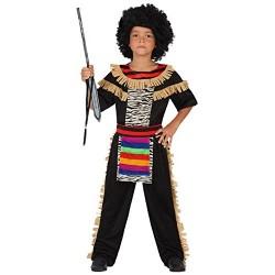 Костюм на Зулу за момче. Карнавален костюм за Момче, Възраст: 9 години