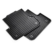 Audi 4H0 061 512 041 Rubber Floor Mats Rear Set of 2 Long Version