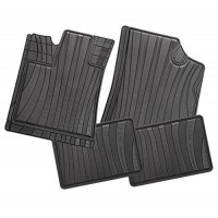 Carfashion 229367Всесезонни гумени стелки за автомобил-Black