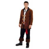 Костюм на пират за мъже. Карнавален костюм за Мъж, Размер: L