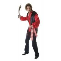 Костюм на пират. Карнавален костюм за Мъж, Размер: 3XL