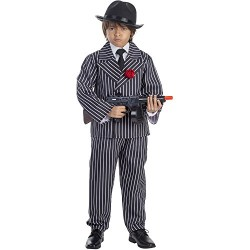 Костюм на гангстер. Карнавален костюм за Момче, Възраст: 4-6 години