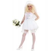 Костюм на булка зомби. Карнавален костюм за Жена, Размер: S/M
