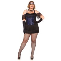 Рокля в стил Гетсби за жена. Карнавален костюм за Жена, Размер: 3XL