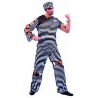 Костюм на секси затворник за мъже. Карнавален костюм за Мъж, Размер: M