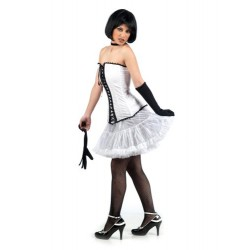 Карнавален костюм Кан Кан за жена. Карнавален костюм за Жена, Размер: M