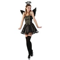 Костюм на черен ангел. Карнавален костюм за Жена, Размер: M
