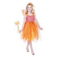 Рокля на фея, комплекта вклюва и крила, вълшебна пръчка и диадема. Карнавален костюм за Момиче, Възраст: 9-10 години