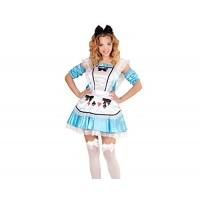 Костюм на Алиса за жена. Карнавален костюм за Жена, Размер: L