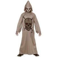 Костюм на скелет с качулка и маска. Карнавален костюм за Деца, Възраст: 7 години