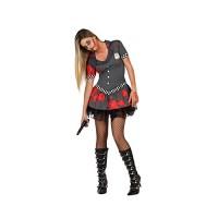 Костюм на зомби полицайка за жена. Карнавален костюм за Жена, Размер: XL