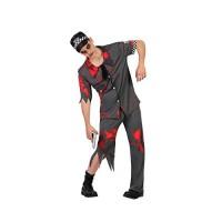 Костюм на зомби полицай. Карнавален костюм за Мъж, Размер: XL