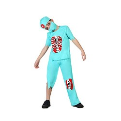 Костюм на зомби доктор за момче. Карнавален костюм за Момче, Възраст: 8 години