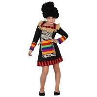 Карнавален Зулу костюм за момиче. Карнавален костюм за Момиче, Възраст: 8 години