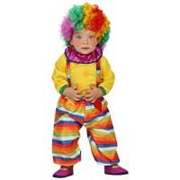 Костюм на клоун за бебе. Карнавален костюм за Бебе, Възраст: 0-6 месеца