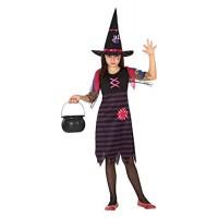 Костюм на вещица за момиче. Карнавален костюм за Момиче, Възраст: 4 години