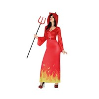 Червена рокля на дявол за жена. Карнавален костюм за Жена, Размер: XL