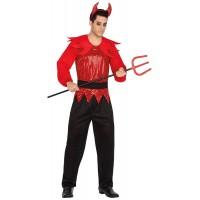 Костюм на дявол за мъже. Карнавален костюм за Мъж, Размер: M/L
