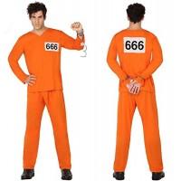 Костюм на затворник. Карнавален костюм за Мъж, Размер: L