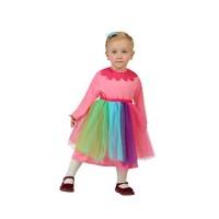 Рокля на клоун за момиче. Карнавален костюм за Момиче, Възраст: 1-2 години