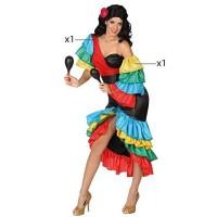 Костюм за самба за жена. Карнавален костюм за Жена, Размер: XS/S