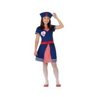 Костюм на моряк. Карнавален костюм за Момиче, Възраст: 6 години