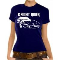 Дамска тениска с логото и надпис Среднощен ездач