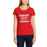 Дамска тениска с надпис Аз не сам дебела - Бременна съм