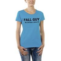 Дамска тениска с надпис на английски Падащ Човек