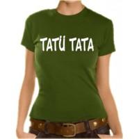 Дамска тениска с надпис Tat? Tata