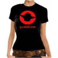 Дамска тениска с надпис Yodafone