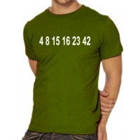 Мъжка тениска с Цифри 4 8 15 16 23