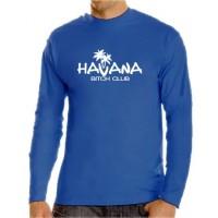 Мъжка тениска с дълъг ръкав и надпис Havana - Bitch Club