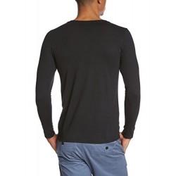 Мъжка тениска с дълъг ръкав и надпис на немски Не си тука за забавление