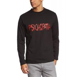Мъжка тениска с дълъг ръкав и надпис Психопат
