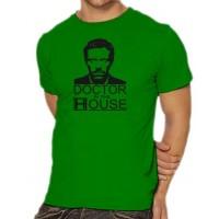 Мъжка тениска с лика на Д-р Хаус