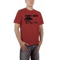 Мъжка тениска с логото и надпис Среднощен ездач