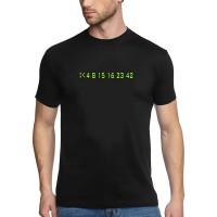 Мъжка тениска с надпис цифри 4 8 15 16 23 42