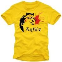 Мъжка тениска с надпис Изстрел в главата