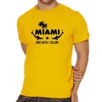 Мъжка тениска с надпис Miami - Beach Club