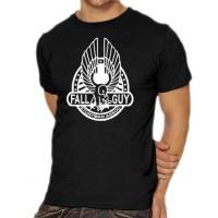 Мъжка тениска с надпис на английски Падащ Човек