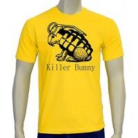 Мъжка тениска с надпис на английски Заек убиец