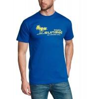 Мъжка тениска с надпис на английски Залез в Богота