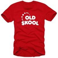 Мъжка тениска с надпис на английскиOLD SKOOL