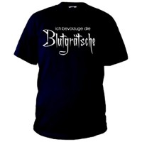 Мъжка тениска с надпис на немски Аз предпочитам предница