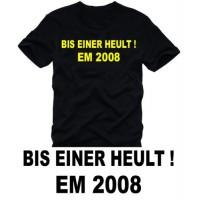 Мъжка тениска с надпис на немски Докато един от нас изреве
