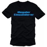 Мъжка тениска с надпис на немски Незаконен мигрант